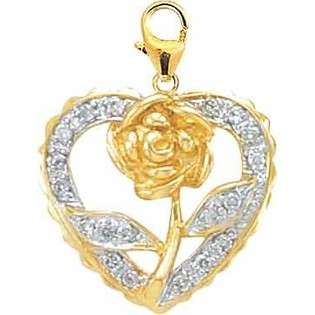 Yellow Gold Double Heart Diamond Fashion Bracelet  Jewelrydays Jewelry
