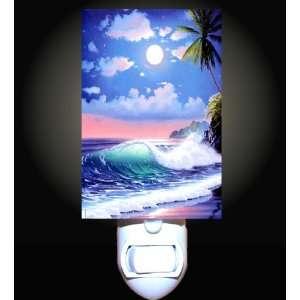 Moonlit Tropical Sea Decorative Night Light Home