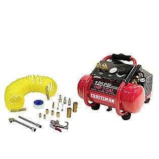 Compresor de aire de 2 gal, con kit de accesorios de 17 piezas