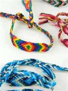 Color Unisex Handmade Friendship Wristband Cotton Wrap Bracelet