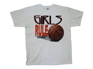 Basketball T Shirt Girls Rule Hardwood Queen