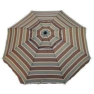 Resin 6 1/2 Ft. Patio Umbrella   Brown and Green  Outdoor Living Patio
