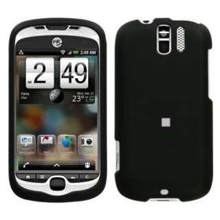 Black Hard Rubberized Protective Skin Case for HTC myTouch 3G Slide T