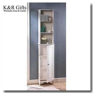 BATHROOM CABINETS 65 Tall Bright White NANTUCKET Bath Storage Shelf