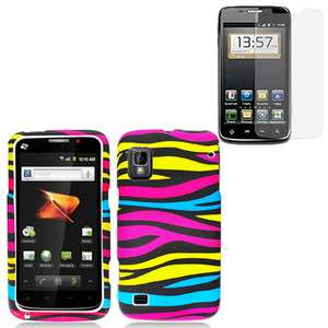 Hard Snap On Cover Case for ZTE Warp N860 Phone w/Screen Protector