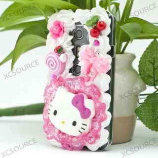 Lovely Hello Kitty 3D Deco Bling Case for HTC EVO 3D PC79