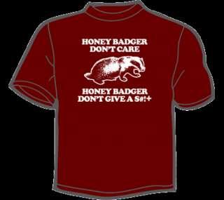HONEY BADGER DONT CARE T Shirt MENS funny vintage 80s