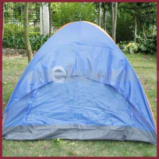 Outdoor Camping Folding Tent 4 Person Single Layer Vertical Door