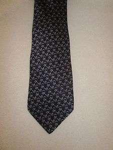 Valentino Cravatte Blue & Purple 100% Silk Italian Tie EUC