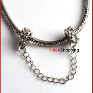 Shipping Safety Chain Alloy Beads Fit Charms Bracelets Option