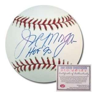 Joe Morgan Cincinnati Reds Hand Signed Rawlings MLB Baseball with HOF