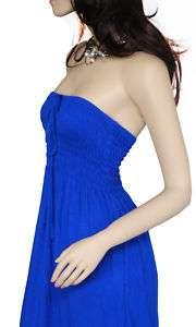 New Sexy Tube Halter Long Maxi Dress Summer Dress S M