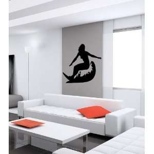 SURFER WAVES SURFING SEA VINYL WALL DECALS ART MURAL B317