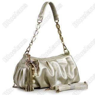 Fashion Ladies Butterfly Knot Fringed Faux Leather Handbags