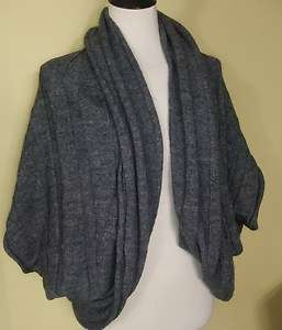 NWT Ann Taylor LOFT Charcoal gray cabled cocoon cardigan L