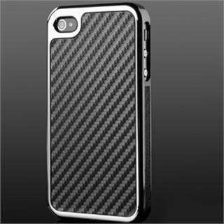 Carbon Fiber Chrome Hard Case Cover Skin for All Apple iPhone 4 4G 4S