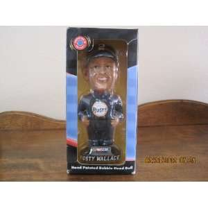 Rusty Wallace NASCAR Hand Painted Bobble Head Doll Toys & Games