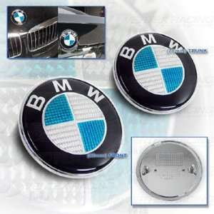 BMW E90 06 Up 3 Series Carbon Fiber Hood Trunk Roundel Emblem Blue