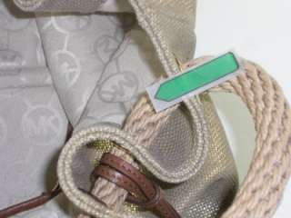 Michael Kors Marina Womens Shimmery Gold Large Shoulder Tote Handbag
