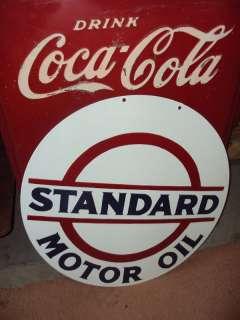 24 Standard Esso Motor Oil Gas 2 Sided Porcelain Sign