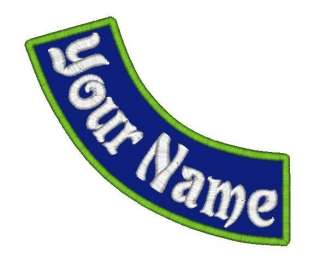 Name Patch Side Rocker 7x2 Biker Tag Badge Motorcycle Iron on