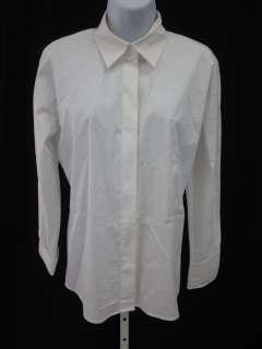 DKNY ESSENTIALS White Button Down Top Blouse Shirt Sz 4