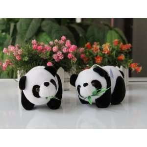 dolls stuffed toys pandas plush toy cute doll 14cm w12: Toys & Games