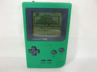 Nintendo Game Boy Pocket Console System Green MGB 001 0748