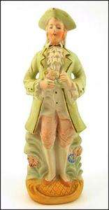 Vintage OCCUPIED Japan COLONIAL Man BISQUE Porcelain FIGURINE Statue