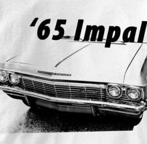 Chevy Impala 1965 Classic Chevrolet Car Auto T Shirt XL