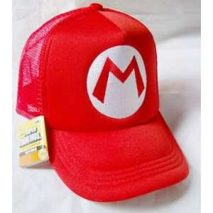 Mario Bro Trucker Hat   Red Mario Toys & Games