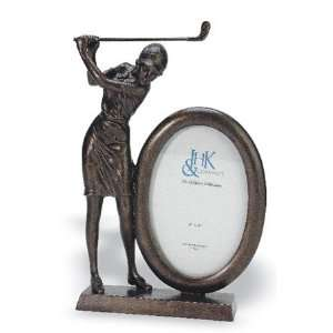 Lady Golfer 4 x 6 Oval Picture Frame