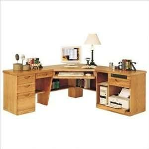 Set V Waterfall 3 Piece Corner Computer Unit: Furniture & Decor