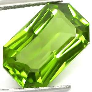 80ct Top Emerald Cut Intense Yellowish Green Peridot