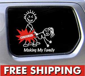 Making my Family decal funny window bumper sticker car Nobody Cares
