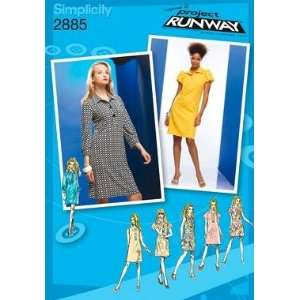 SIMPLICITY PATTERN 2885 PROJECT RUNWAY MISSES/MISS PETITE DRESS WITH