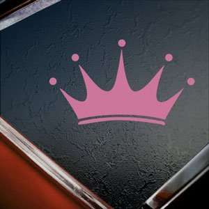 Crown Pink Decal Car Truck Bumper Window Vinyl Pink Sticker