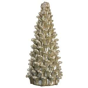 3.7dx7.68h Pine Cone Ceramic Tree Ivory Gray (Pack of 6