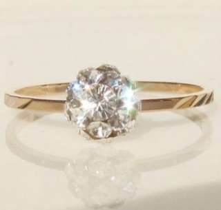 ball gold silver tone ladys promise engagement Ring SIZE 4 6