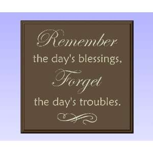 Decorative Wood Sign Plaque Wall Decor with Quote Remember the days