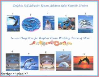Beach/Hawaiian/Dolphin Return Address Labels Favors