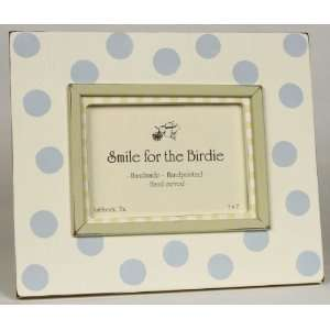 Blue Polka Dots Picture Frame Baby