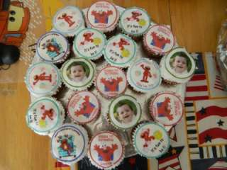 Sesame Street Elmo Edible cookie cupcake tops birthday party