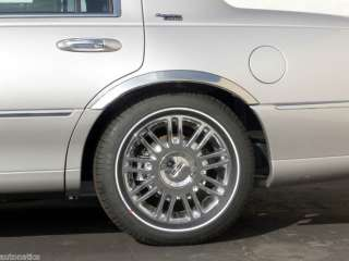 Lincoln Town Car Stainless Fender Trim By Chrome Accessories