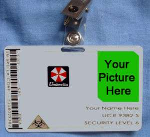 Resident Evil Umbrella Corp Corporation ID Card Cosplay