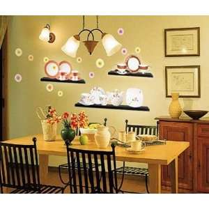 Cup & Plate Mural Wall Home Art Decor Sticker ECO 007