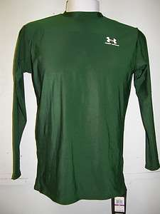Under Armour Adult Long Sleeve Compression Shirt, 0032, Dark Green