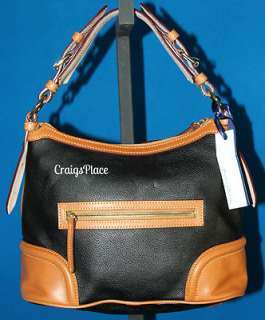 Dooney & Bourke Leather Hobo Bag with Accessories Black A216155