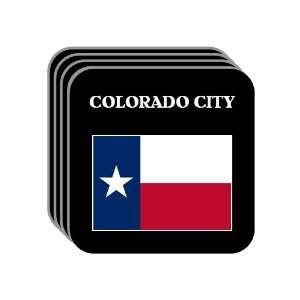 State Flag   COLORADO CITY, Texas (TX) Set of 4 Mini Mousepad Coasters