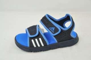 AKWAH 7 K U43947 NEW NAVY RUN WHITE BLUE (#3166) 9K KIDS SANDAL